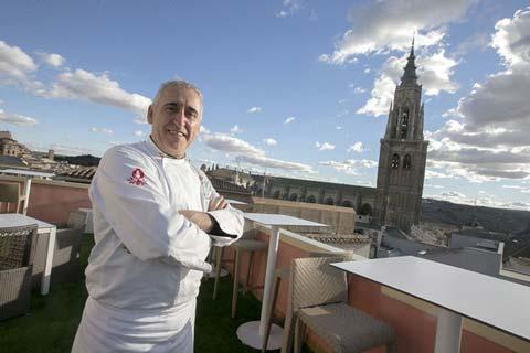 Adolfo Muñoz en el Restaurante Adolfo de Toledo.