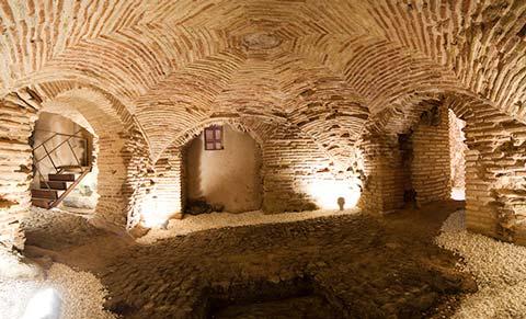 Casa del judío antigua mikvé o baño de purificación