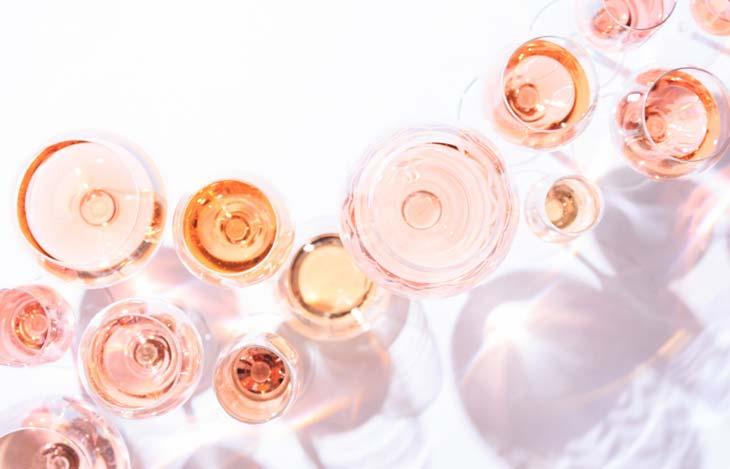 Surtido de copas de vino
