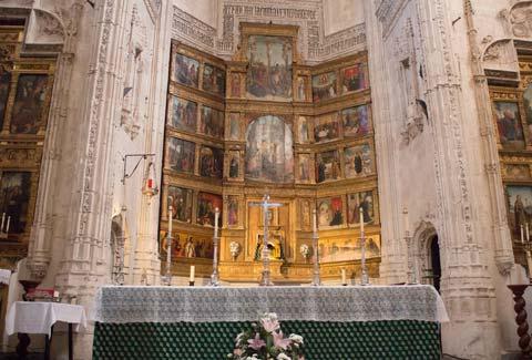Altar de la Iglesia de San Andrés para Isabel la Católica