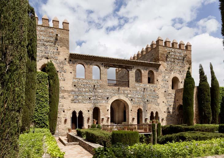 Jardín de la entrada del Palacio de Galiana