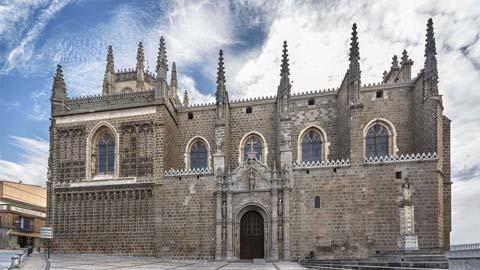 Fachada exterior del Monasterio de San Juan de los Reyes