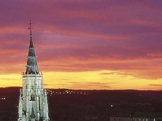 puesta de sol en Toledo