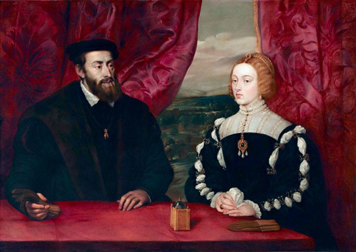 Carlos e Isabel pintado por Rubens