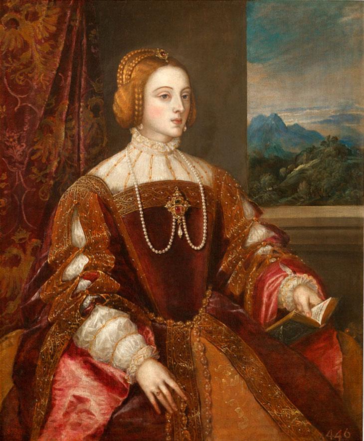 Retrato Isabel de Portugal por Tiziano