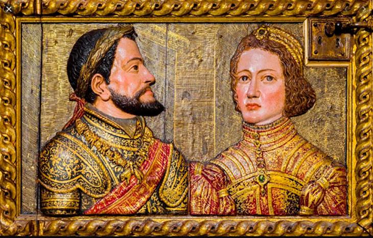 Carlos e Isabel por Alonso de Mena