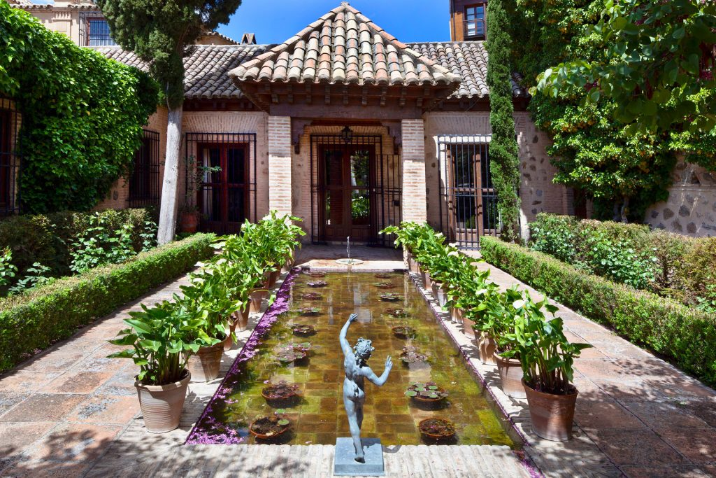 jardín palacio en Toledo