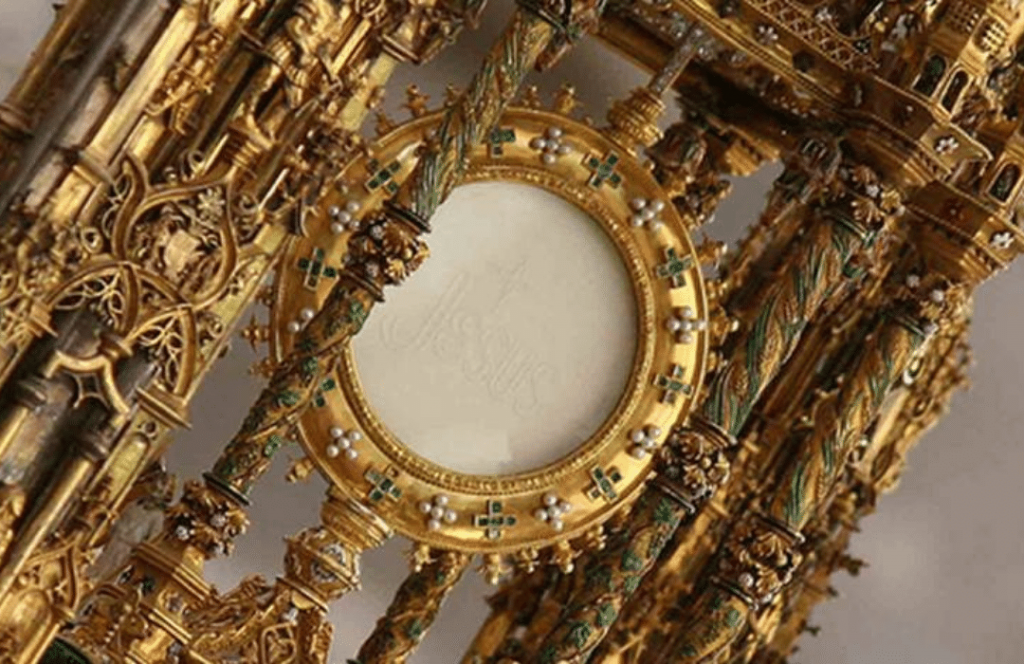 Detalle Custodia Arfe Catedral Toledo Corpus 2021